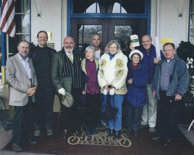 JoyceGeeks at the Hotel St. Francis From left: Ned Sudborough, me, David Norris, Nancy Haydock, Bud Ryan, Joan Harvey, Elaine Mingus, Jim Paulsel, Bill Wible