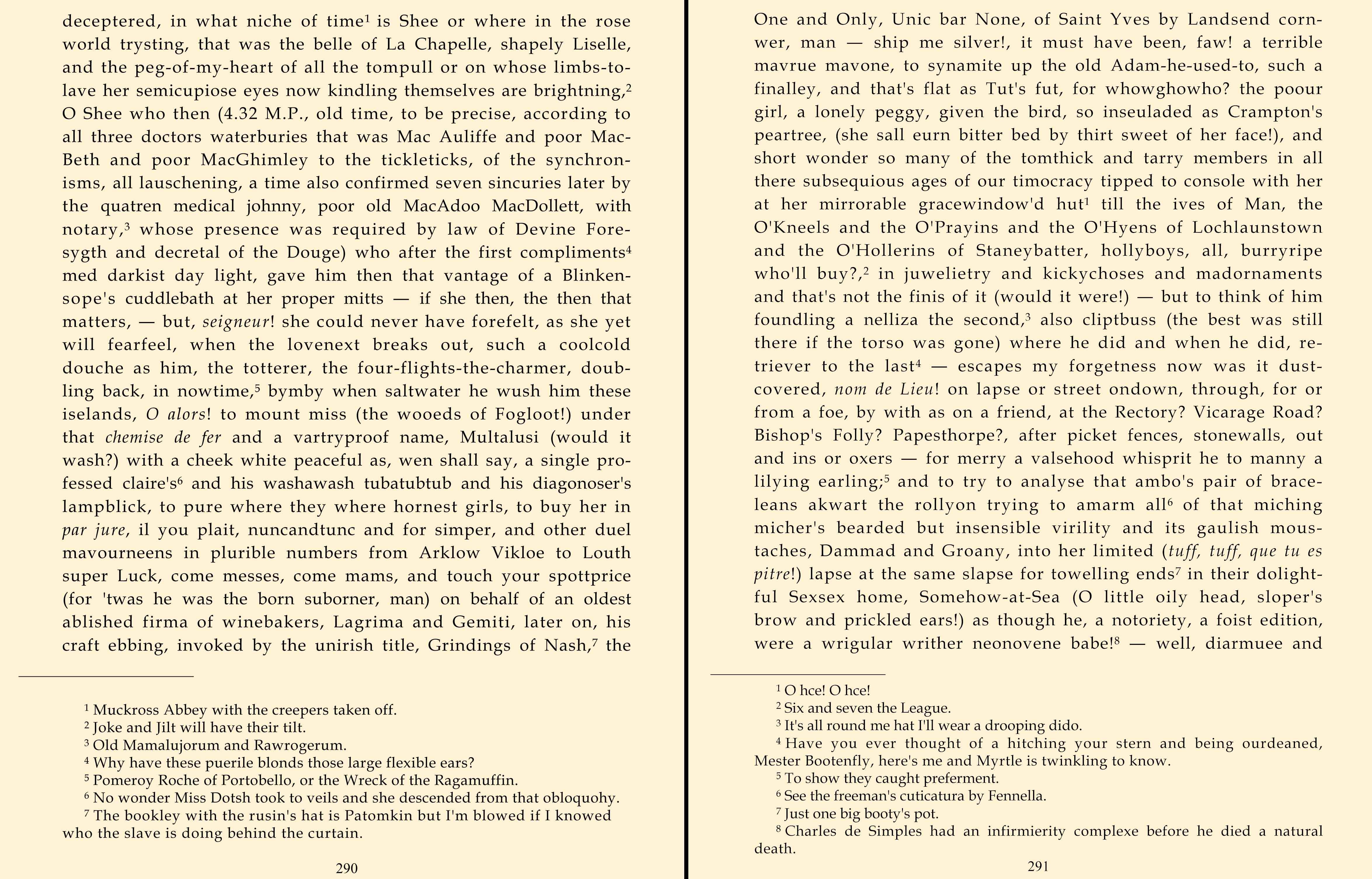 Finnegans Wake  an excerpt  The Green Lantern Press